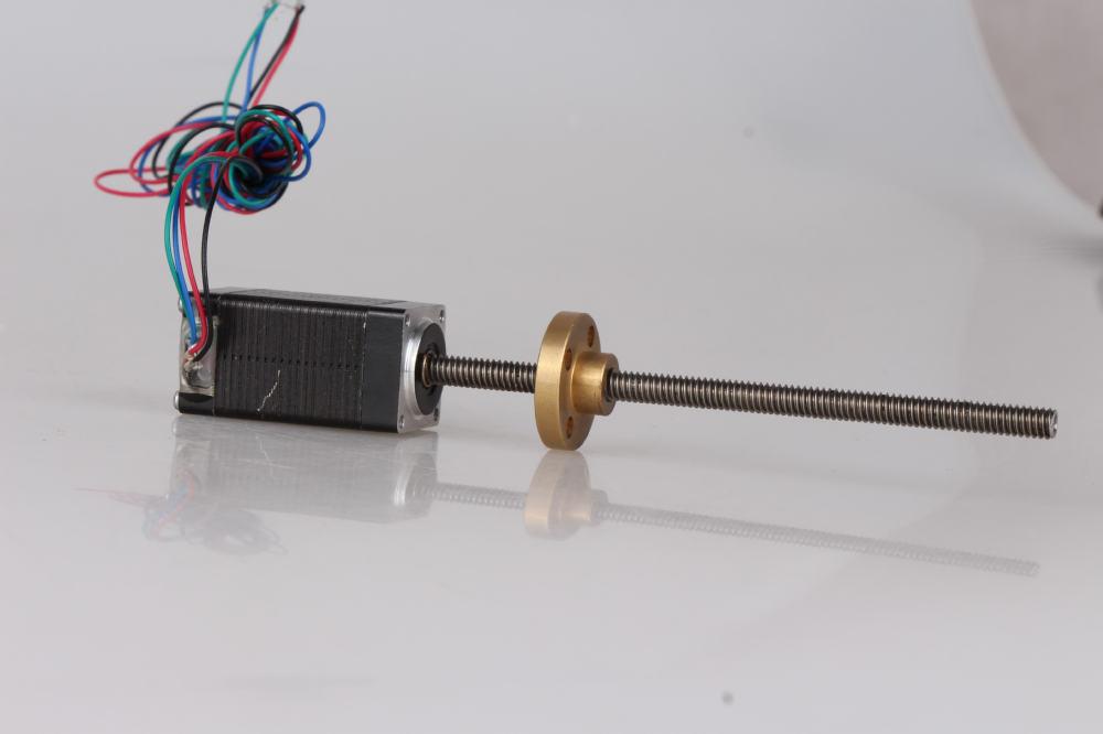 2 Phase Nema8 20mm External Linear Stepper Motor 12v