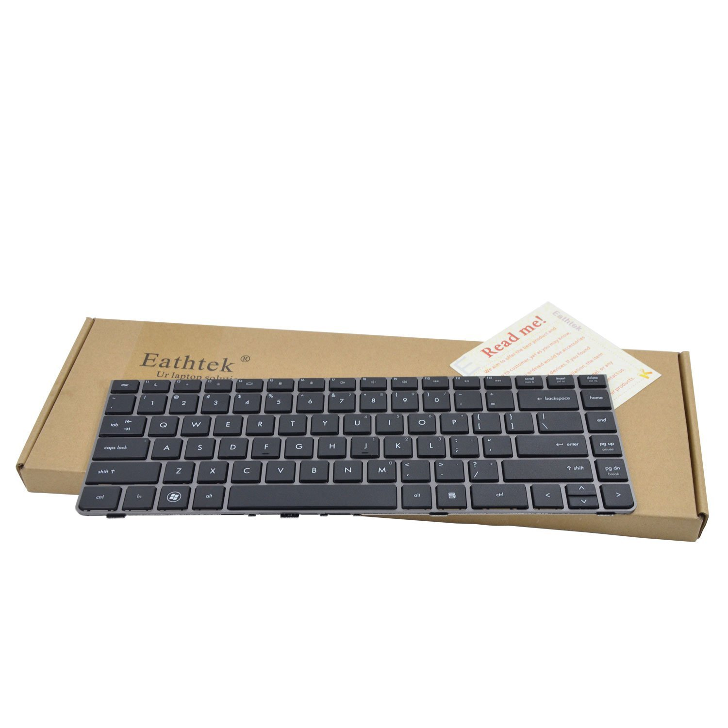 Eathtek Replacement Keyboard with Frame for HP ProBook 4330 4330S 4331S 4430s 4431s 4435s 4436s series Black US Layout, Compatible with part number 646365-001