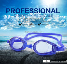 Wholesale Anti-fog Anti-UV high clear swimming googles with silicone strap