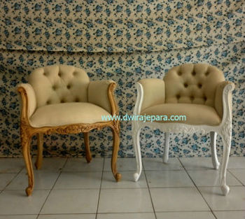 Indonesia Furniture   French Furniture Louis Upholstered Low Back Bedroom  Chair