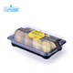 High quality PET plastic packaging containers swiss cake roll bread packaging blister box with lid