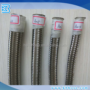 "FACTORY AN6 6AN AN -6 (8.6MM / 11/32"" ID) SS stainless steel 304 Fuel braided rubber hoses lines assemblies"