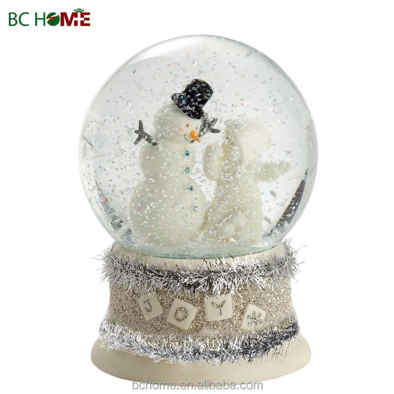 100mm Resin Christmas Snow Globe,Musical Auto-snowing Water Globe ...