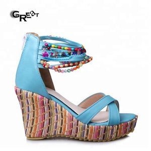 b81debed0c8d1b Beaded Wedge Shoes