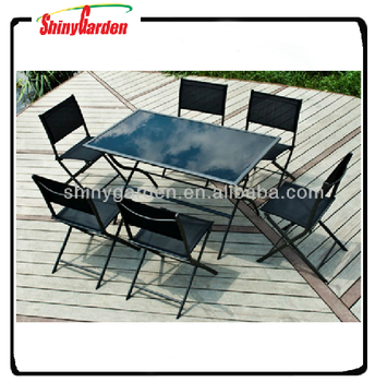 Klapp Esstisch Set 6 Stuhle Gartenmobel Tisch Und Stuhl Restaurant Buy Esstisch Set 6 Stuhle Garten Klapp Esstisch Tisch Und Stuhl Restaurant