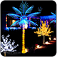 Natural palm led coconut palm tree light