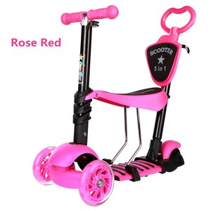 2018New model child scooter 5 in1 music and light 3 wheel kick scooter for kids kick scooter