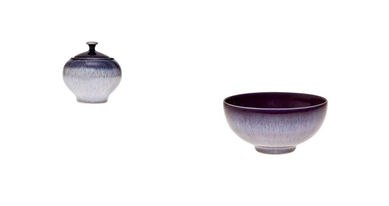 Denby Heather Covered Sugar and Rice Bowl Set of 2