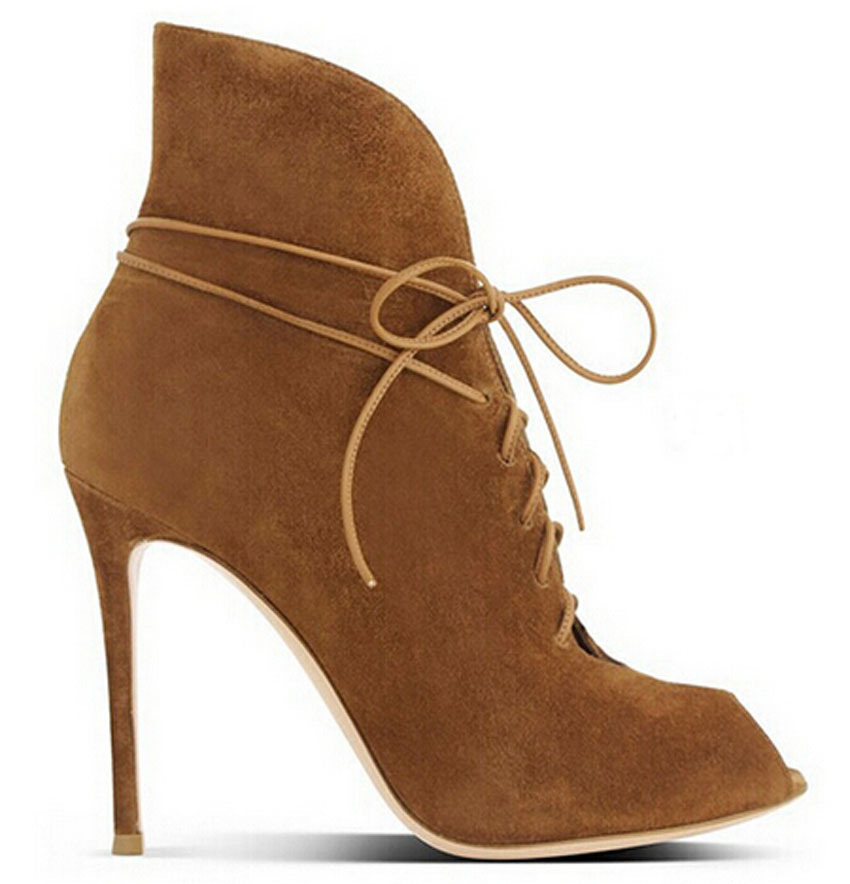 5e6724aae7a9 Get Quotations · high quality suede leather peep toe lace up high heel  ankle boots 2015 fashion ankle strap