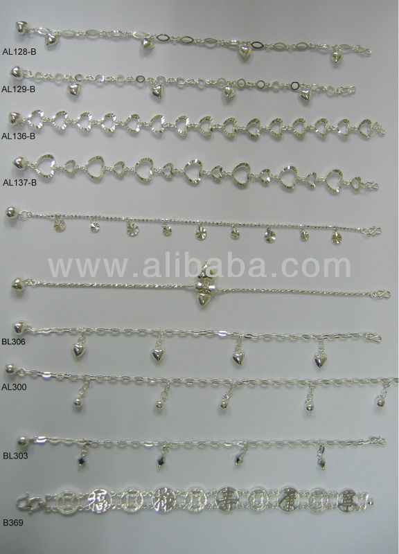 Range of 925 Sterling Silver Anklets - page2