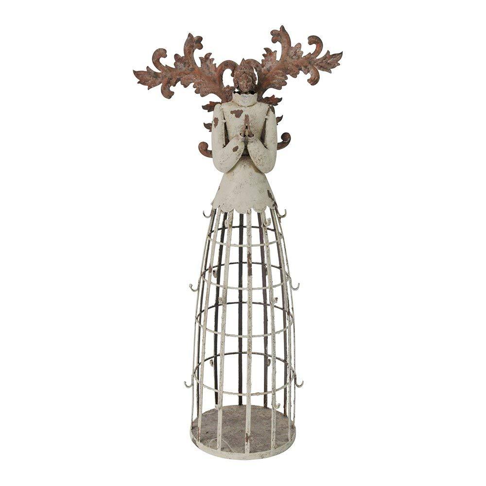 Superbe Get Quotations · YK Decor Antiqued Metal Garden Angel Statue With Hook  Patio Lawn Yard Indoor Outdoor Decorations (