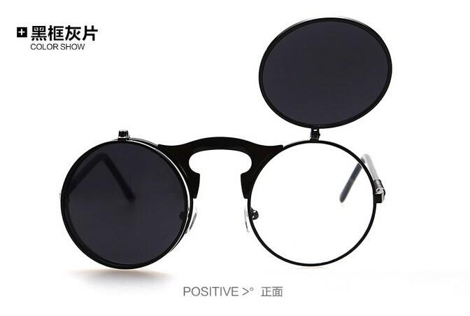 Antik steampunk kacamata hitam bulat desainer punk uap logam kacamata  wanita kacamata pria retro kacamata matahari c46eacdd12