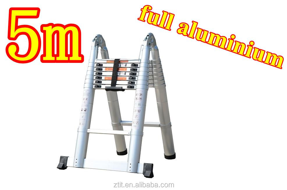 5 metros de aluminio telesc pica escalera especialmente for Escalera de aluminio de 8 metros