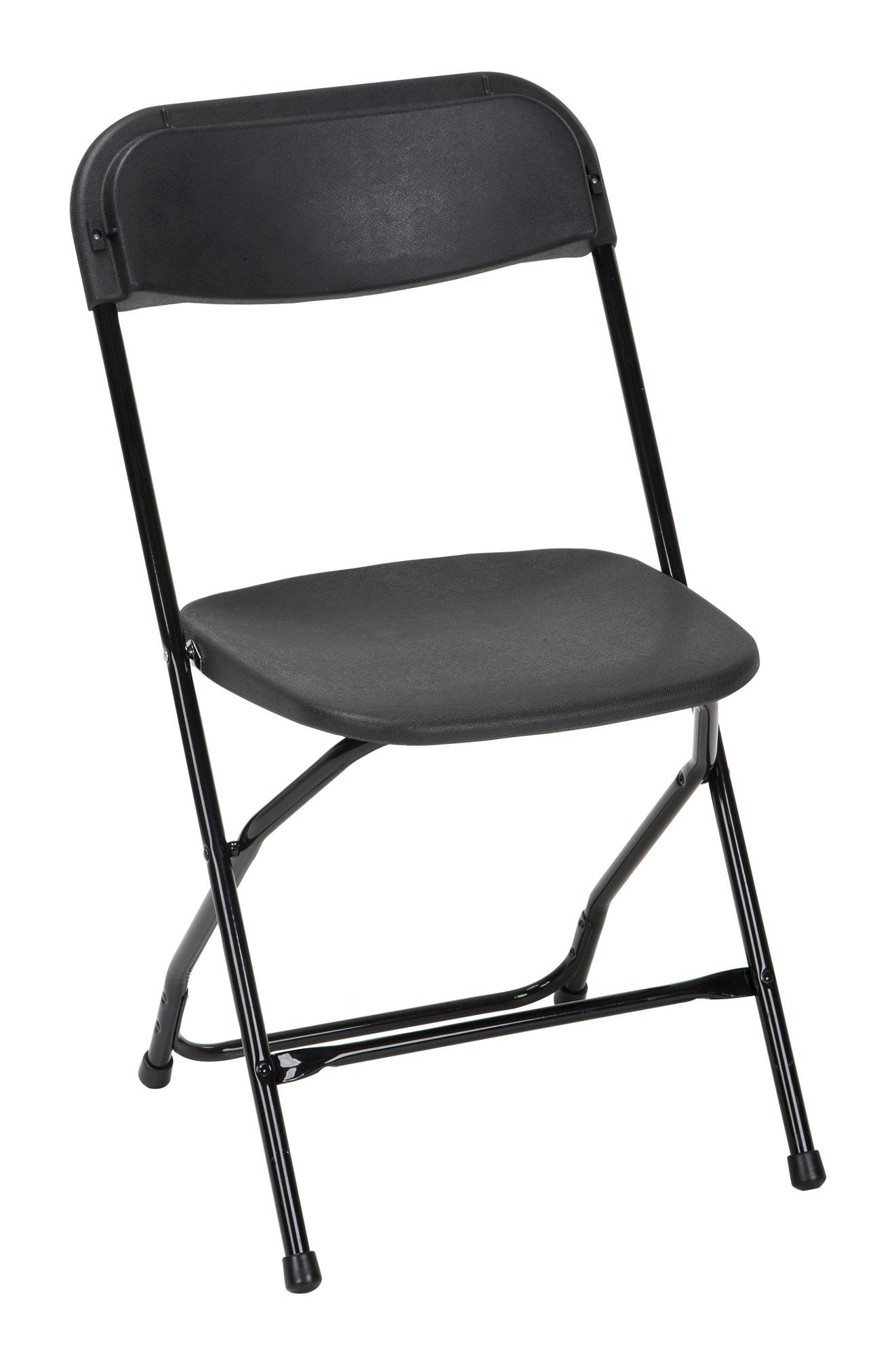 Cosco Commercial Heavy Duty, Injection Mold Folding Chair, Black, 8-Pack