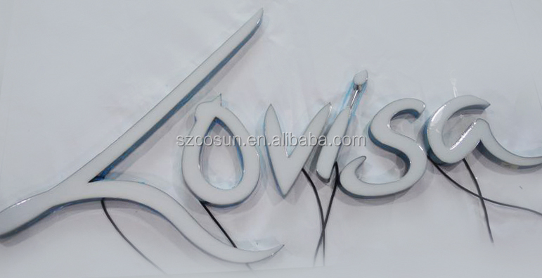 Internal signage Led epoxy resin letter sign