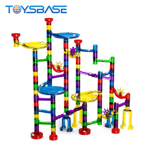 Marble Run Toy Set 122Pcs DIY Construction Marble Race Maze Balls Track Building Blocks Toy For Child