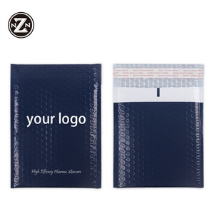 custom printed logo biodegradable self seal matt 4X7 inch poly bubble mailers shipping envelopes padded plastic packing bag
