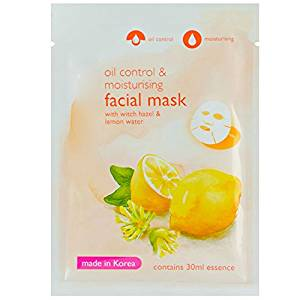 Hazel and Lemon Serum Facial Tissue Mask, with Witch Hazel & Lemon Water, Oil Control & Moisturizing, Facial treatment for women and men, (Pack of 3)