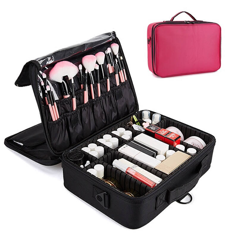 Tragbaren Kosmetiktasche Make-Up Fall Bilden Reisetasche