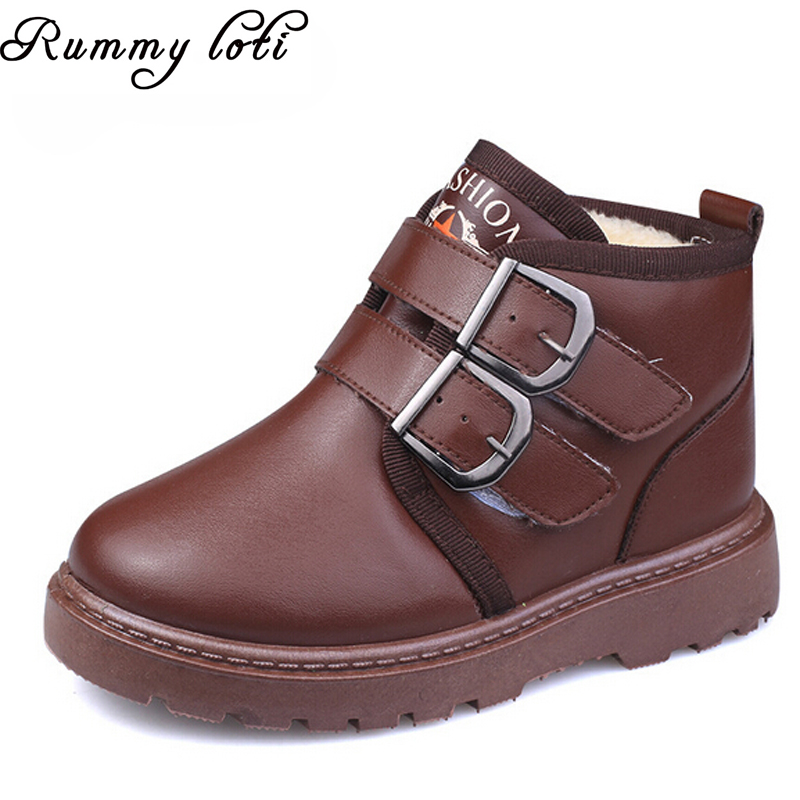 2015 New winter Brand children warm winter boots, girls