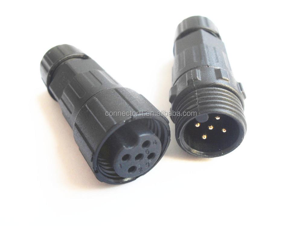 Pin outdoor electrical plastic waterproof male female