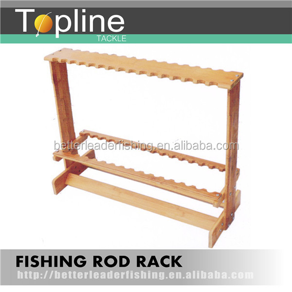 Wooden Fishing Rod Rack A04,Fishing Rod Display Rod Stand - Buy ...
