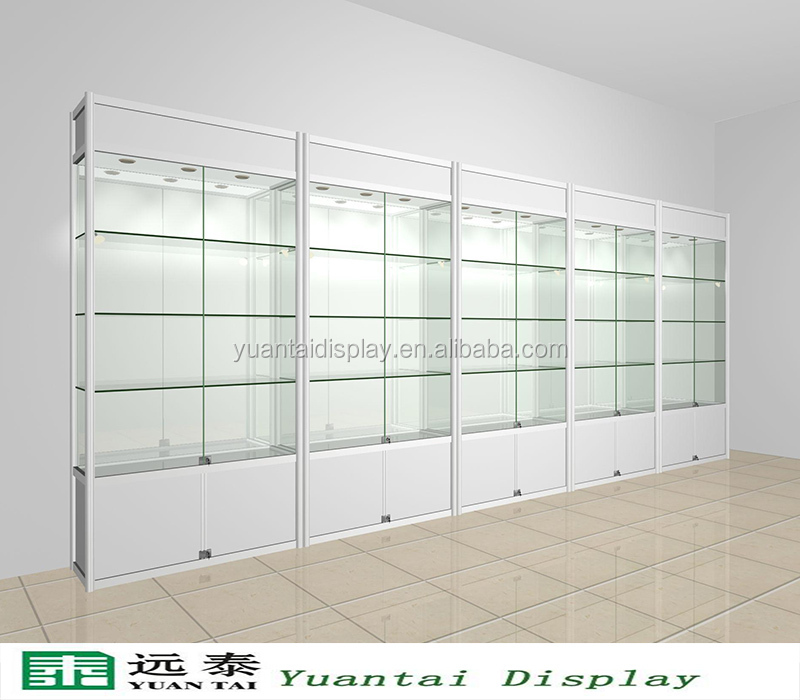 Modern Custom Made Glass Vitrine Jewelry Display Showcase