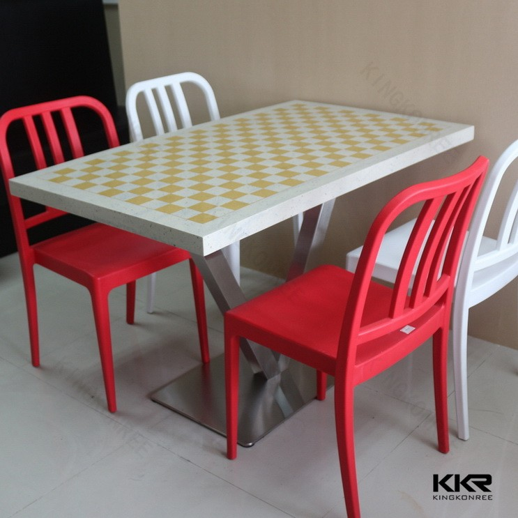 modern chess table commercial dining tables stone acrylic table