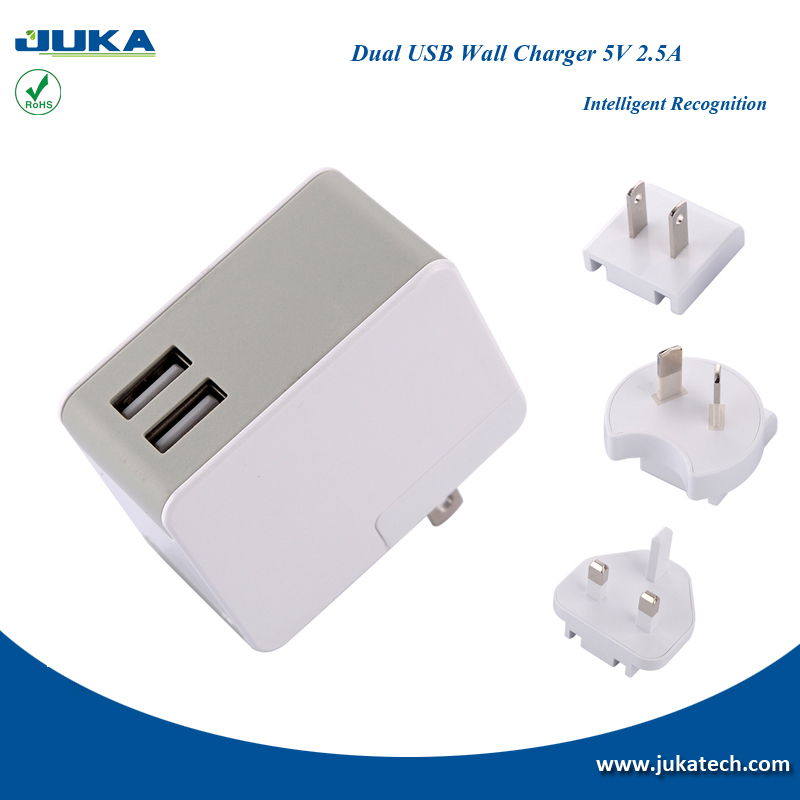 portable 2 port usb wall charger dual usb output ports mp3 mp4 power supply