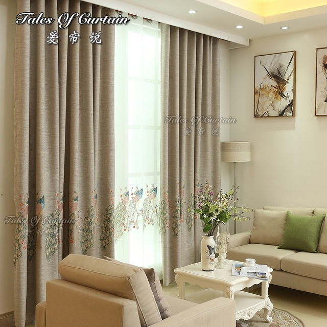 Blackout Factory Supplier Linen South Asia Style Embroidery Curtain Fabric