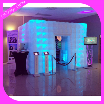 Led Inflatable Photo Booth With Lighting Advertising Tent For