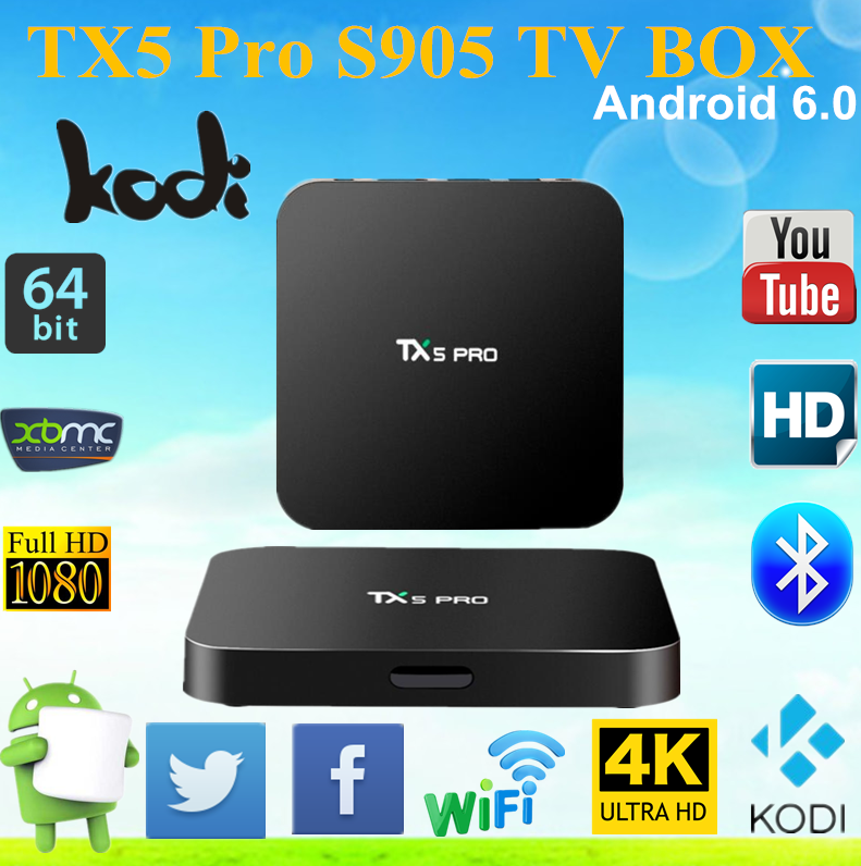 TX5 PRO Smart Tv Box amlogic s905x 2G/16G Android 6.0 set top box