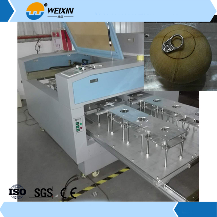 1200W coconut laser cutting machine,coconut processing machinery