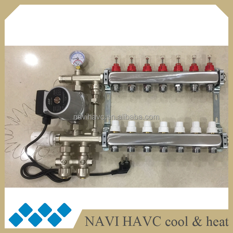 Water Underfloor Heating Manifold Pump mixing valve Blending A Rated
