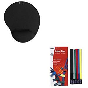 KITBLKF8B024IVR50448 - Value Kit - Belkin Multicolored Cable Ties (BLKF8B024) and Innovera Mouse Pad w/Gel Wrist Pad (IVR50448)