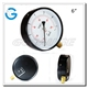 Black steel bottom connection ordinary kpa gas pressure gauge