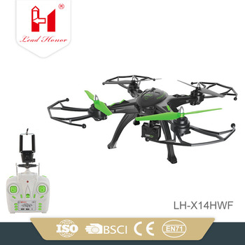 LH-X14HWF WIFI FPV With HD Camera Altitude Mode 2.4G 4CH 6Axis RC Quadcopter Drone With Camera RTF