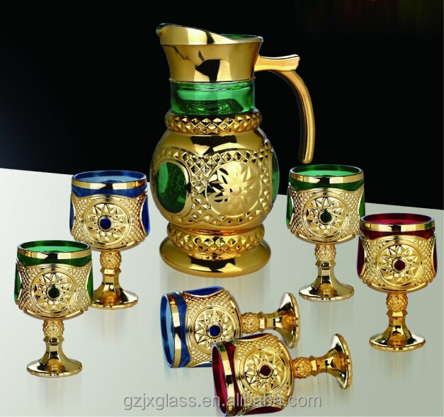 2014 New Design Glass Water Jug Set