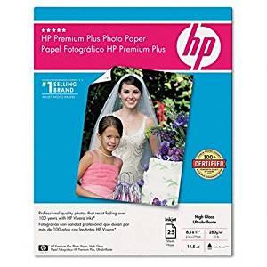 HP Q6568A Premium Plus High Gloss Photo Paper (25 sheets, 8.5 x 11-inch)