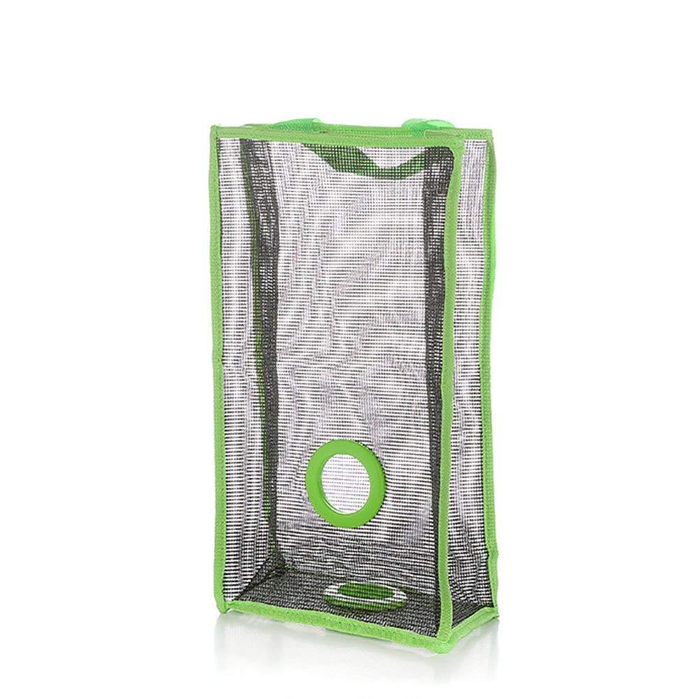 Creaon Storage Hanging Bag Durable Waterproof Wall Door Foldable Multifunctional Large Capacity Grid Storage Bag for Bedroom and Bathroom(Green)
