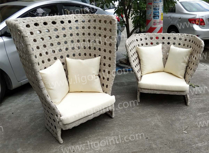 Leisure ways bistro french style waterproof white resort garden sofa outdoor furniture