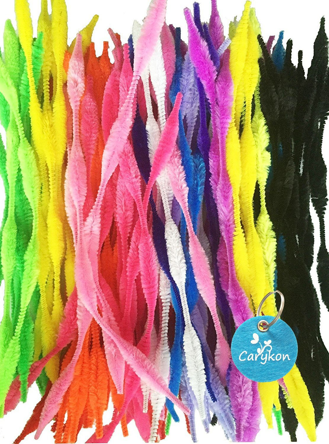9 Chenille Stems Perfect for Your Familys Decorative and Creative Needs! Set of 500 Colorful Striped Fuzzy Pipe Cleaners 500 Pipe Cleaners Perfect for Any Arts and Crafts!