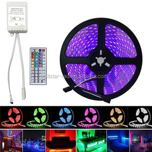 Best Flexible Super Bright Waterproof 16.4Ft 5M 5050SMD RGB 300LED Light Led Strips lamp + 44Key IR Remote