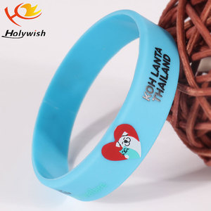 Customized high quality blue and black wide rubber band