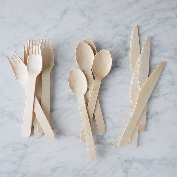 chinese hot sale birch making wooden disposable 160mm spoon knife and fork set