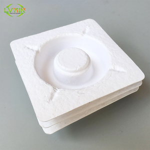 Sugarcane molded pulp packaging wine tray , protection bottle packaging tray (Dry press )