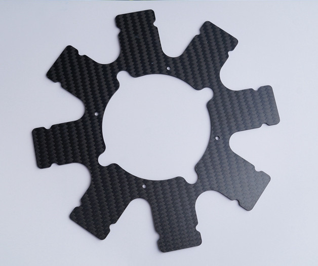 Juli professional supplier high strength light weight cnc 3k carbon fiber plates for drones parts