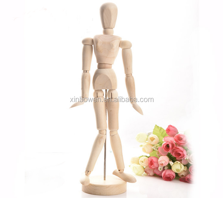 4 5 Inch 8 Inch 12 Inch Art Sketching Model Wood Doll Movable Joint Drawing  Wooden Body Manikin - Buy Wooden Manikin,Body Manikin,Manikin Doll Product