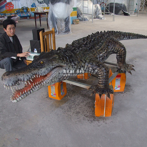 Animatronic Animals Type Life Size Crocodile