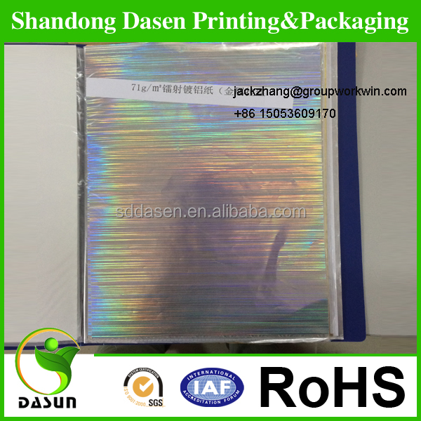 anti-counterfeiting holographic paper with streamer pattern